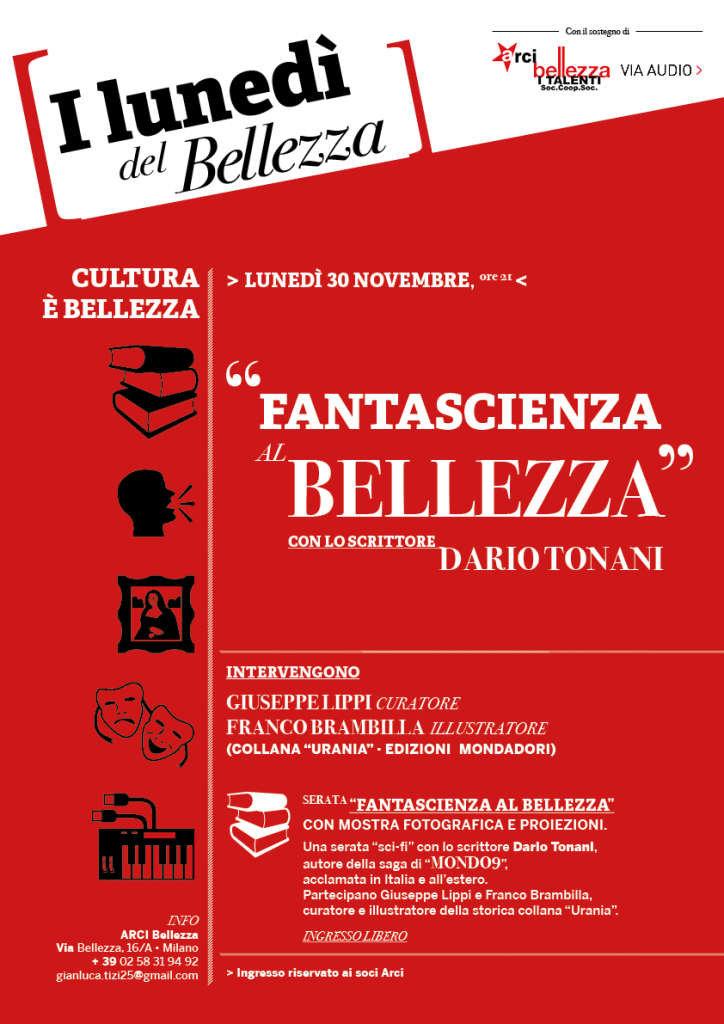 ARCI BELLEZZA PROGRAMMA DI LUNEDI' 30 NOVEMBRE - FANTASCIENZA
