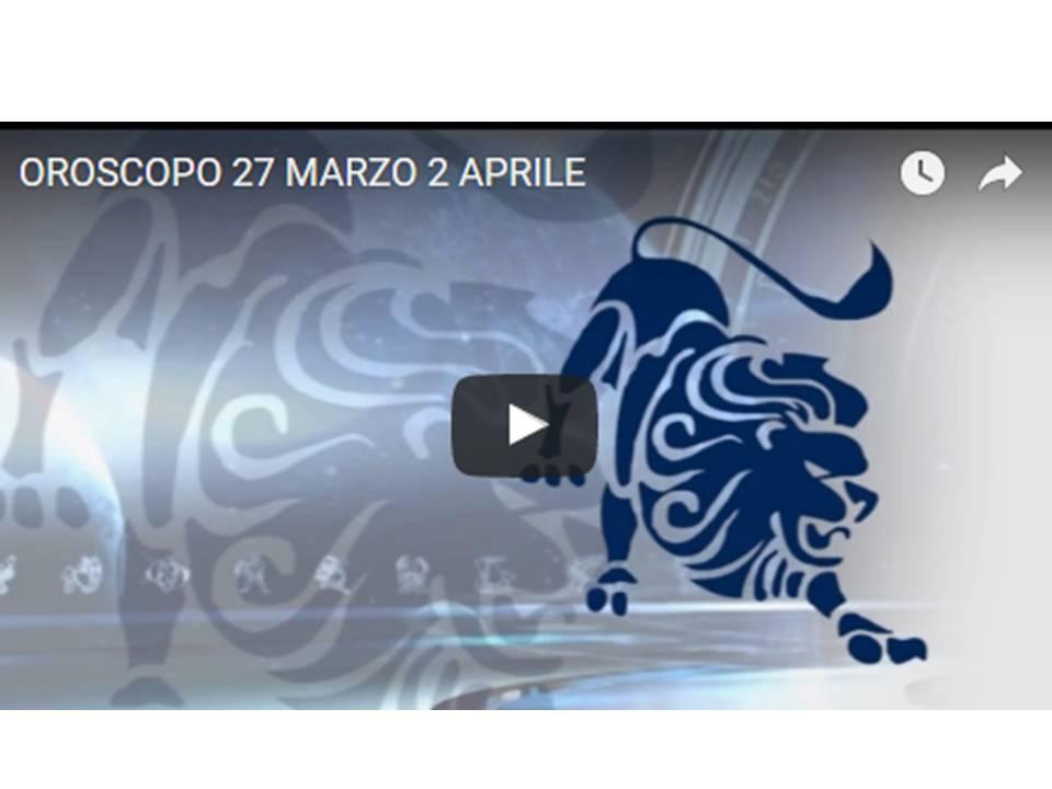 SUSY GROSSI RACCONTA I SEGNI DAL 27 MARZO AL 2 APRILE 2017