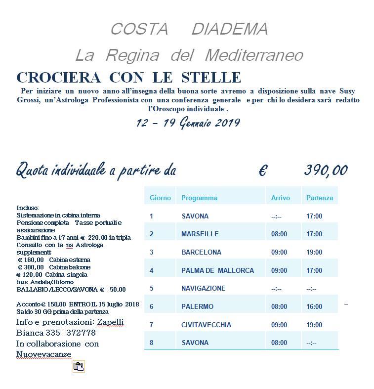 OROSCOPO DI SUSY GROSSI DAL 14 AL 20 GENNAIO 2019
